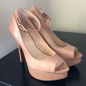 Nude High Heels with Platform